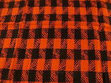 "Vintage Scarf: aprox. 9 x 50"", red & black SILK, ALBERT NIPON"