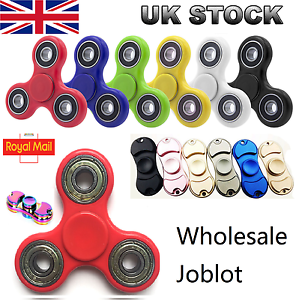 50   100 pcs Fidget Finger Spinner EDC Anti Stress Toys UK wholesale joblot bulk