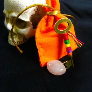 KEY OPEN ROADS Talisman Colgante LLAVE ABRECAMINOS · Amuleto Ritualizado