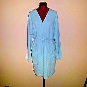 937363d8d3191 Details about Victoria's Secret Size XS Robe Cotton Blue Waffle Weave Womens