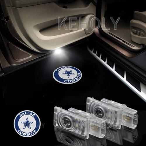 2x Dallas Cowboys Logo Car Door LED Laser Projector Shadow Light For Cadillac