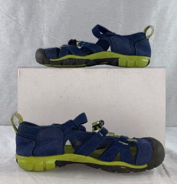 1010097 KEEN Seacamp 2 CNX Blue Depths Green Water Sandal Shoe SIZE 4