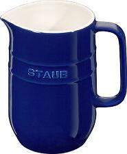 Staub Ceramica Caraffa tondo Blu scuro 1L Adatti al lavaggio in lavastoviglie