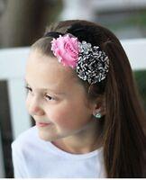 Light Pink And Damask Shabby Headband