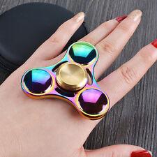 Kinder Baby* Regenbogen Farbe Spielzeug Metall Legierung EDC Hand Fidgat Spinner