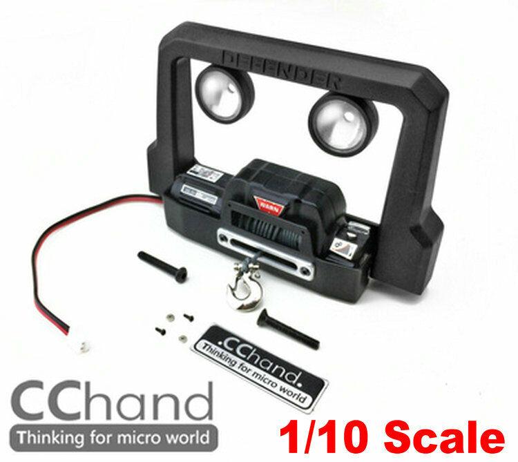 Cc Mano Metal Luz Parachoques & Cabrestante RC4WD Gelande II Land Rover Defender D90 D110