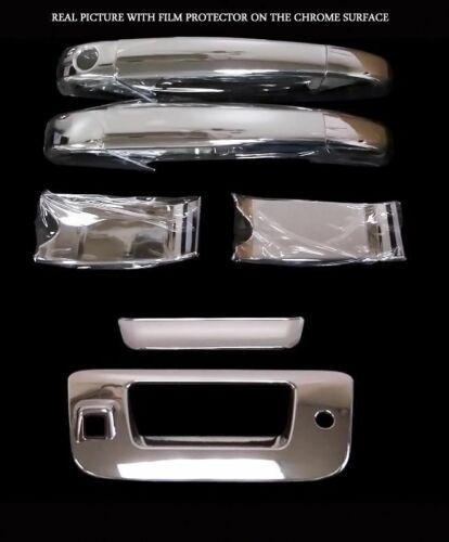 For Chevy Silverado 07-13 Chrome Door Handle Cover /&Tailgate Cover camera hole