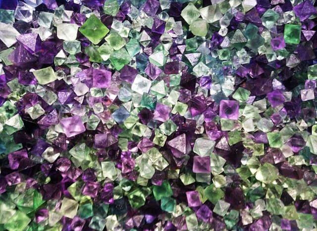 100g AAAA+++ Natural beautiful Fluorite Crystal Octahedrons Rock Specimen China