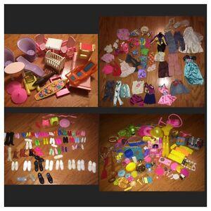 Barbie Mattel 1970s 80s 90s Vintage Accessories Clothes