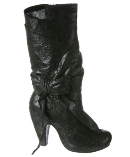 Irregular Choice IRREGULAR CHOICE Noir Parti Pantalons ultra-brillants superbe botte
