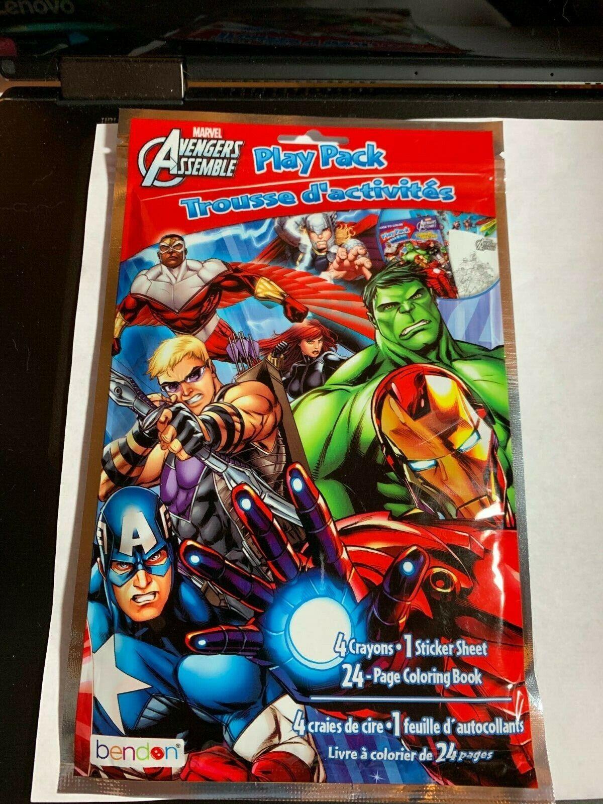 Play Pack Grab Go Coloring Bags 27 Variations Marvel Disney