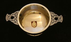 Northumberland-Fusiliers-Quaich-Drinking-Bowl-Pewter-Stainless-Steel-BGK42