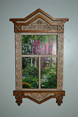 Window for Dolls Russian authentic styl 1/6 dollhouse furniture Barbie FR NEW!