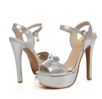 Women's Platform Pumps Slingbacks Shoes High Heel Stilettos Sandals Plus Size