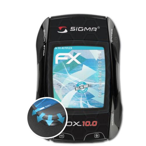 atFoliX 3x Folie für Sigma Rox 10.0 GPS Schutzfolie FX-ActiFleX
