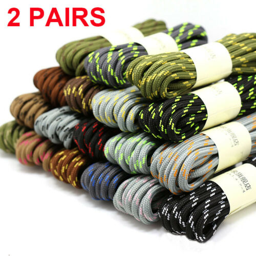 2 Round Athletic Shoe Lace Canvas Sneaker Shoelaces Unisex Strings Hiking Boots