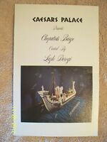 Cleopatra's Barge By Lazio Dorogi  Information Pamphlet From Caesars Palace