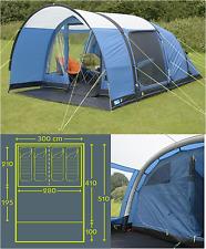 INDOOR SHOW MODEL K&a Paloma 4 AIR berth person man inflatable tent CT3051 & Kampa Paloma 4 Air Berth Person Man Camping Inflatable Tent CT3051 ...