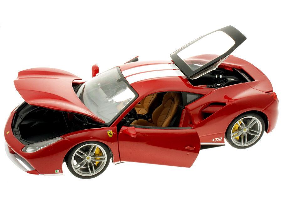Burago 1 18 Ferrari 488 GTB le Schumacher 70th Anniversaire Lim. Edition  76102