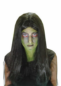 NEW-LADIES-BLACK-WITCH-WIG-HORROR-HALLOWEEN-FANCY-DRESS-SCARY-PARTY-ACCESSORY