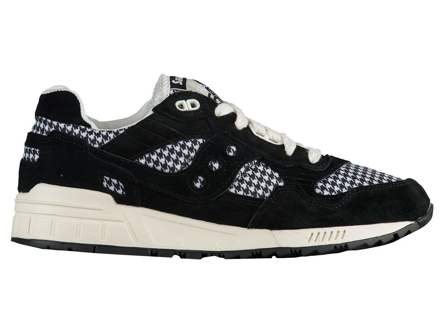 Saucony Shadow 5000 Houndstooth Womens S603501 Black Running Shoes Size 8