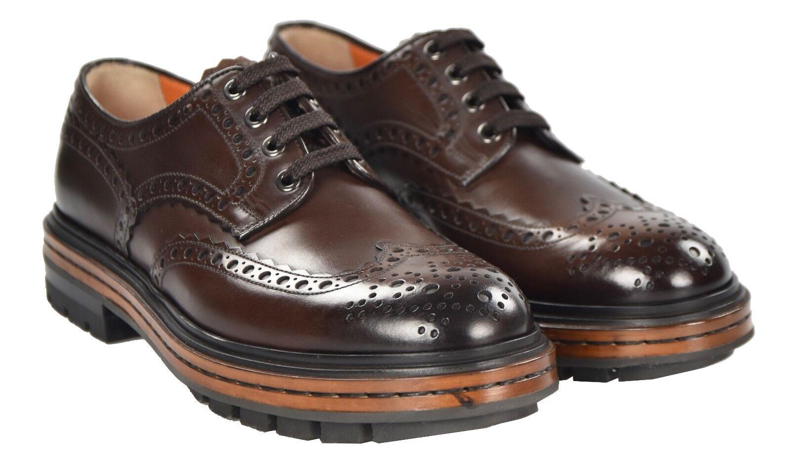 risparmia fino al 70% di sconto NEW 2018 SANTONI scarpe 100% LEATHER Dimensione Dimensione Dimensione 9 US 42 EU 18SANW5  negozi al dettaglio