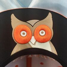 Hooters Trucker Hat Owl on Brim Cap Snap Back Black Beige Orange Great Gift