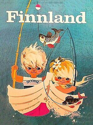 Talvilomalle Finland Scandinavia Ski Vintage Travel Art Poster Print