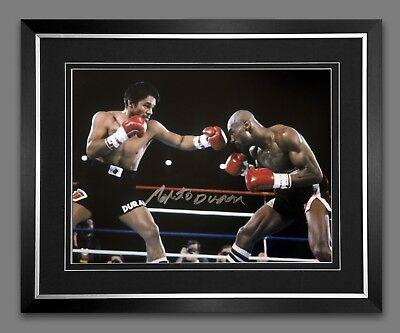 Roberto Duran Signed Boxing 12x16 Photograph New D