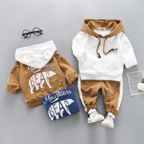 pantalon infant survêtement 2PC bébé Garçons Vêtements Sets Kids Polar Bear Sweats à capuche