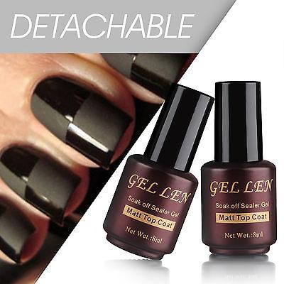 Gellen 8 ml Manicure Art UV Led Nail Gel Polish Sealer Finisher Matte Top Coat