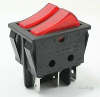 Electric Space Heater Rocker Switch Red Delonghi Lakewood 20a 16a