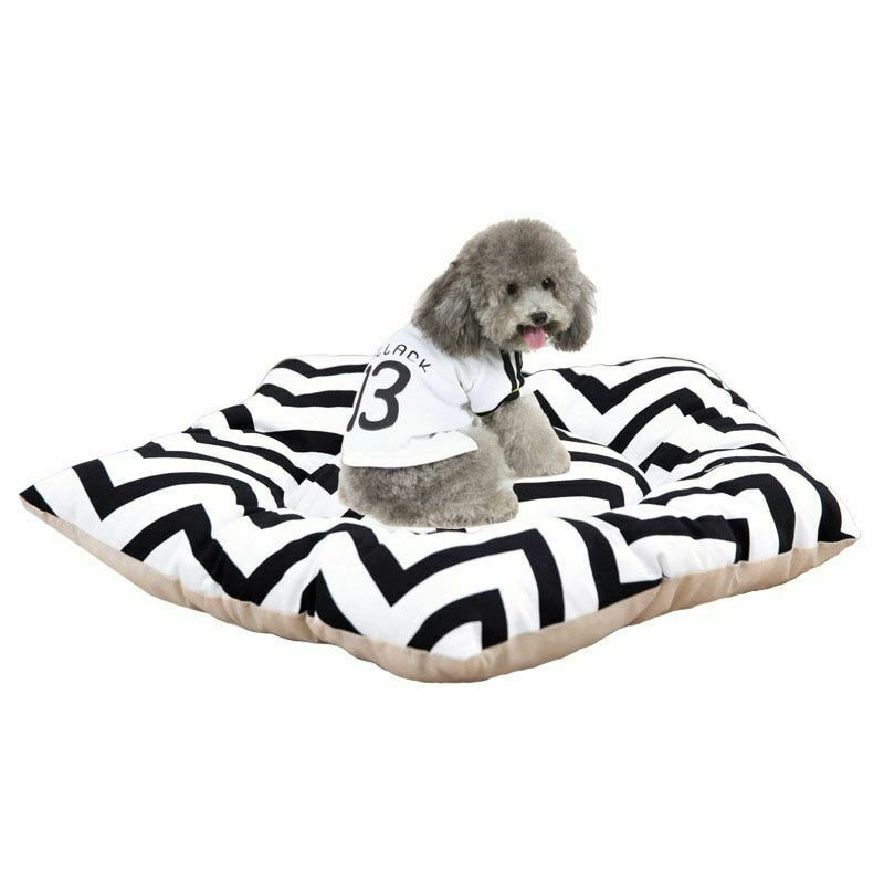 Dog Bed Pet Cushion Mat Pentagram Shape Mattress Cotton Warm Sleeping Retriever