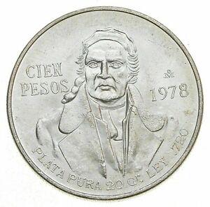 SILVER - WORLD COIN - 1978 Mexico 100 Pesos - World Silver Coin *813