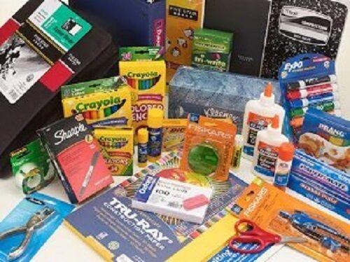 New  School  Supplies .HUGE MEGA PAK Binders pens highlighters, pencils markers