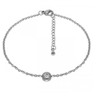 1-Armkette-mit-Strass-Stein-Zirkon-silber-Edelstahl-Kette-Armband-Damen-Maedchen