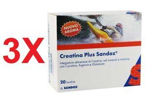 3X-CREATINA-PLUS-Sandoz-Integratore-di-Creatina-Sali-Minerali-Vitamine-20-Buste