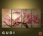GUDI-4P Large canvas Modern Abstract Art Manual Oil Painting Wall Art Decor Gift
