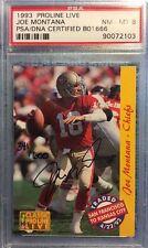 Joe Montana 1993 Classic Pro Line ON CARD Auto/Autograph #341/600 ~PSA 8~ 49'ers