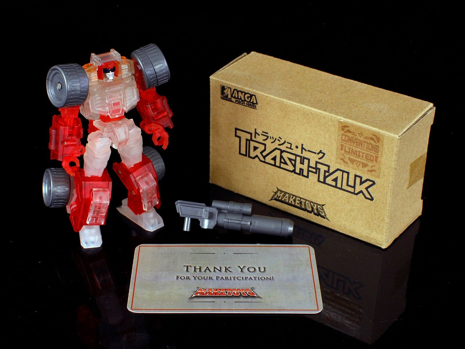 Maketoys Exclusive CLEAR Trash Talk  IDW Swerve  NEW & MINT Manga Mech Series