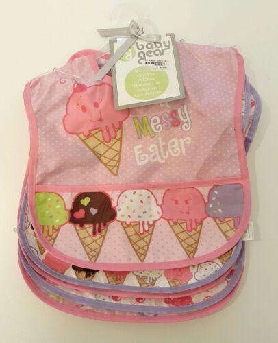Baby Gear Set Of 5 ice cream cones Bibs vinyl