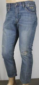 Polo Ralph Lauren Varick Slim Straight Distressed Blue Denim Jeans NWT