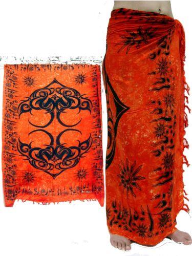 Sarong wickeltuch polynésien Lungi rock jupe portefeuille//sa 126