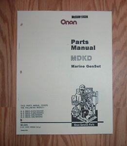 Onan genuine part 981-0222 manual-pts mdkd onan sle equipment.