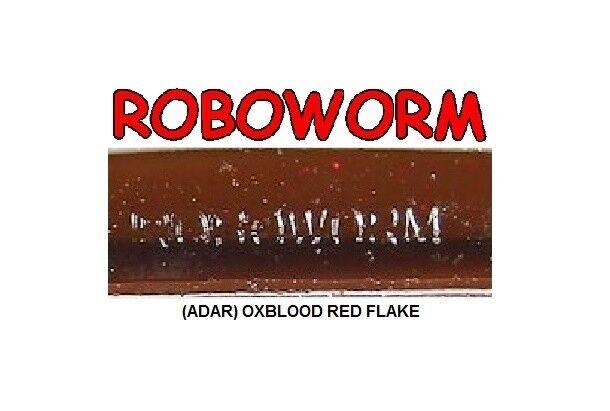 Roboworm ZP-ADAR Oxblood with Red Flake 5 Inch - BULK LOT 118 Soft Plastic Baits