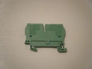ALLEN BRADLEY 1492-LG4 Feed-Through Grounding Terminal Block 4mm² Green/Yellow