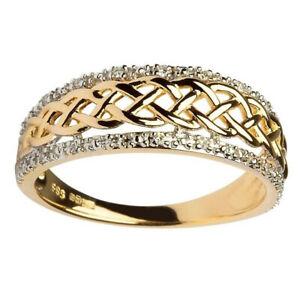 Fashion-Women-18K-Yellow-Gold-Filled-Infinity-Ring-Wedding-Jewelry-Gift-Sz-5-10