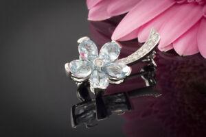 Broschen & Anstecknadeln Uhren & Schmuck Brosche Nadel Blumen Mit Diamant Brillanten In 750 18k Weißgold Blumenbrosche .