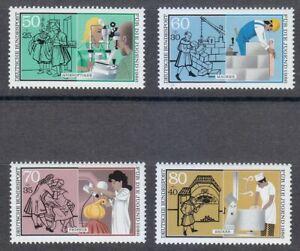 Germany-1986-MNH-Mi-1274-1277-Sc-B643-B646-Youth-in-Industry-Medicine-Parfume