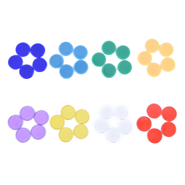 19mm 100± Translucent Plastic Bingo Chips Markers for Bingo Game Party Games
